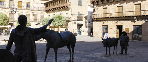 Don Quichotte, Plaza mayor à Villanueva de los Infantes