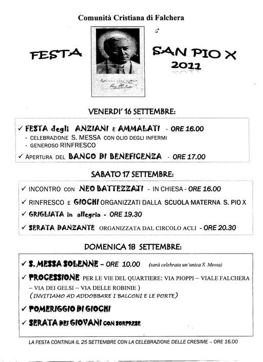 Festa di San Pio X 2011