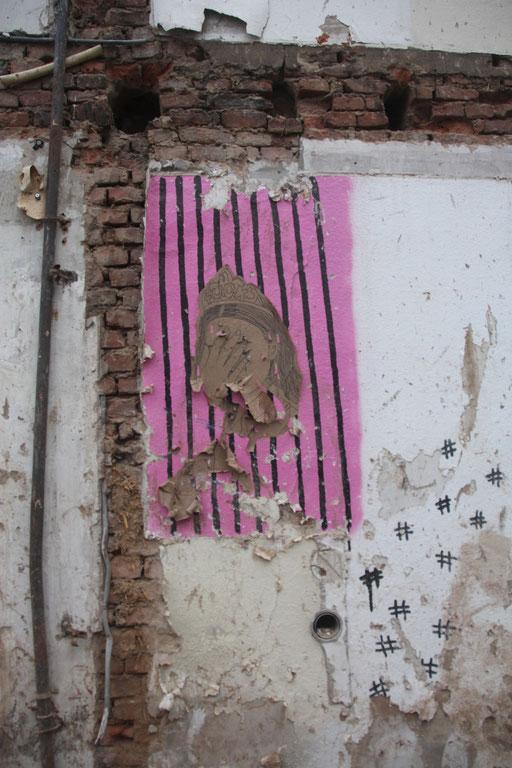 Zufällig die Überreste meines Paste-Ups beim Spaziergang auf der Friedrichstraße entdeckt...