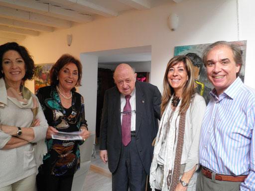 Presentació de Catart Group amb Marta Solsona, Mer, Pepe Madrid -Delegat del grup i Josep Maria Cadena - Crític d'Art