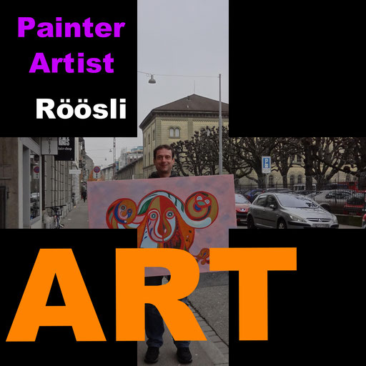 zuRICh fine art vernissage gallery events painting daniel roeoesli ,  .