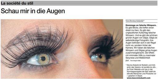 falsche Wimpern, Wimpern verlängerung, Wimpern extensions, Wimpernverlängerung Augenkosmetik Wimpern verlängern färben BodyZone Cosmetics Spa Basel
