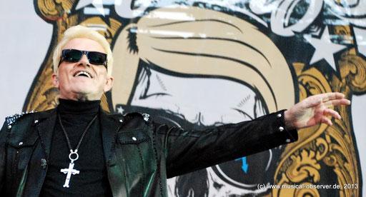 Gab den Provinz-Rocker: HEINO in Monschau. Fotos (5): Onkel Hotte.