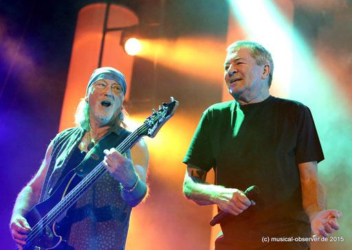 Noch immer voll motiviert: Ian Gillan (l.) und Roger Glover. Fotos: Niels Holger Schmidt