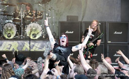 Auch Pfingsten 2016 wieder: Metal-Party in der Kanalbühne. Fotos: Niels Holger Schmidt