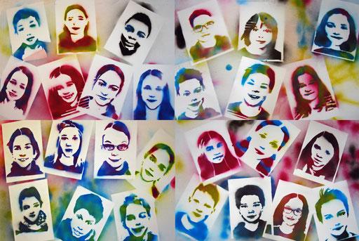 Unsere gesprayten Bilder! Weitere Fotos von der Aktion unter Stencil-Art