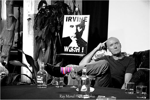 Irvine Welsh at Motoco , Mulhouse , France. 07/04/2018. credit : Raymond Weigel