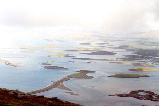 Ausblick vom Croagh Patrick, Oktober 2006