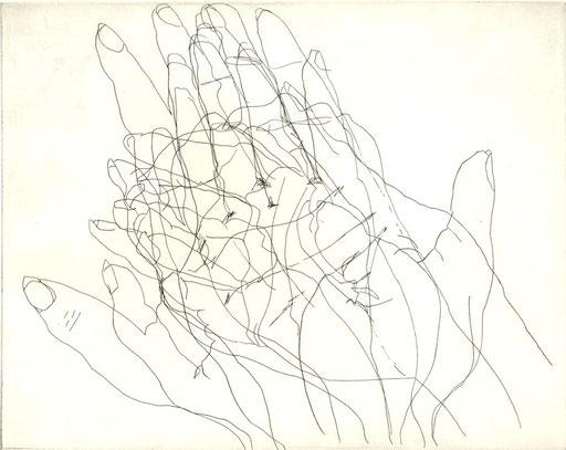 """fe male"", Eva Hradil, 2006, Radierung"