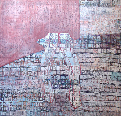 "Eva Hradil ""Verbundenheit"" 2012-2013, Eitempera auf Halbkreidegrund/LW, 200 x 210 cm"