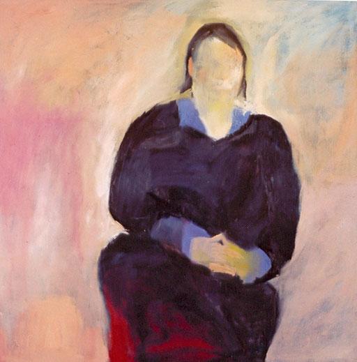 """Eva Hradil, """"Heike Schäfer"""", 2003, Öl und Eitempera auf LW, 130 x 130 cm"""