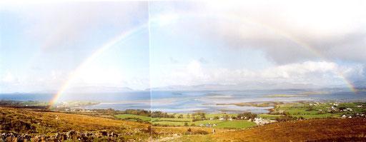 Ausblick vom Croagh Patrick, Irland 2006