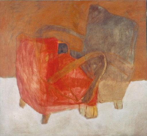 "Eva Hradil ""anwesend abwesend"" 2003, Eitempera auf LW, 130 x 140 cm, Privatbesitz"