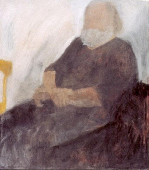 """Eva Hradil, """"Otto Lorenz"""", 2003, Öl und Eitempera auf LW, 140 x 130 cm, Privatbesitz"""