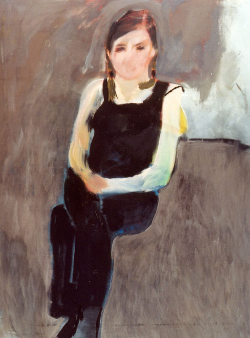 "Eva Hradil ""Alexandra Baumgartner"" 2003, Eitempera auf LW, 150 x 110 cm"