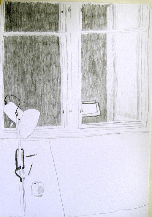 Eva Hradil, Bleistift auf Papier, 100 x 70 cm