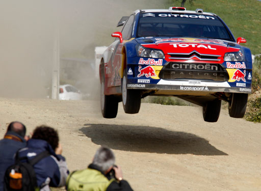 Dani Sordo of Spain drives his Citroen C4 at the first stage of the Portugal Rally WRC in Algarve April 3, 2009.