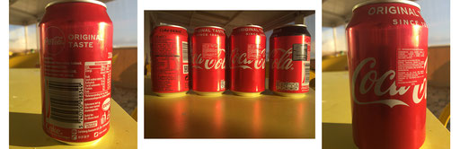 Cokes cans labels not for Mr Magoo !