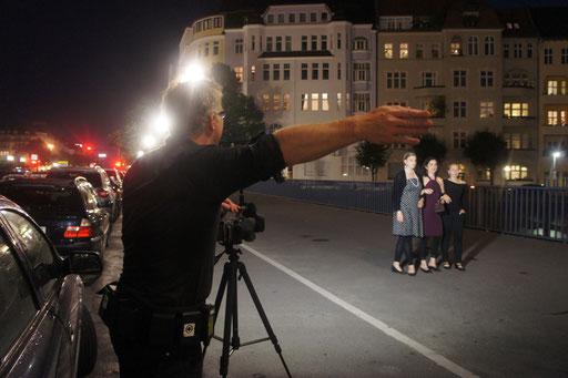"""Dreharbeiten zu """"Written over Pictures"""" auf dem Berliner Kaiserdamm im  August  2011"""