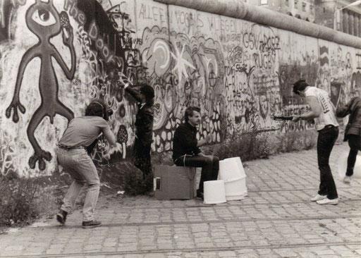 """Dreharbeiten zu """"Es muß alles anders werden"""" Anfang Mitte der 80er in West Berlin"""