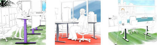 miko office höhenverstellbare Arbeitstische