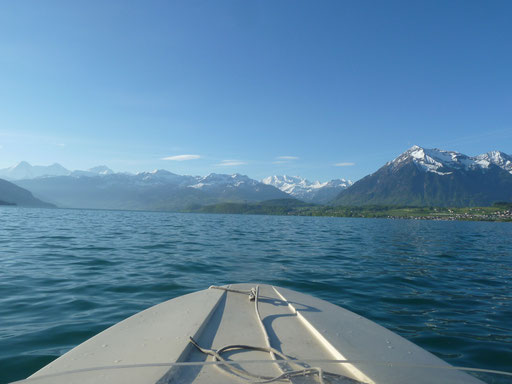 Thuner Alpenpanorama :-) ...swiss alps watching while fishing