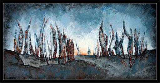 Crépuscule, 100X50, 2015.