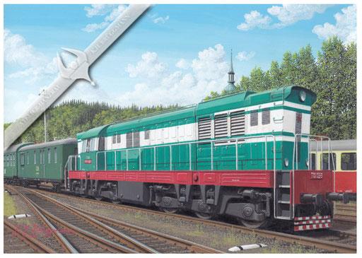 Diesellok CSD 770 (T 669) in Trutnov, Ende der 80er