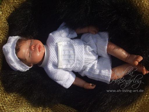 Ooak Mini Baby Björn aus Polymer Unikat