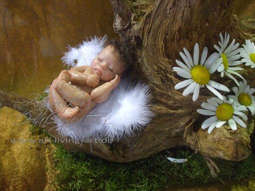 David, Ooak Baby Puppe Skulptur