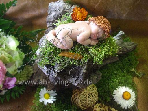 Ooak Mini Baby Skulptur Polymer