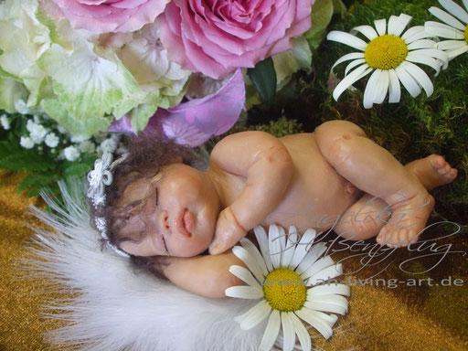 Ooak Mini Baby Polymer Skulptur