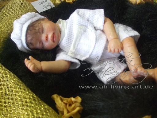 Ooak Mini Baby Puppe aus Polymer