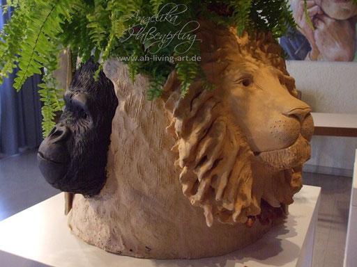 Skulptur modellieren anfertigen Ton Tierbaum