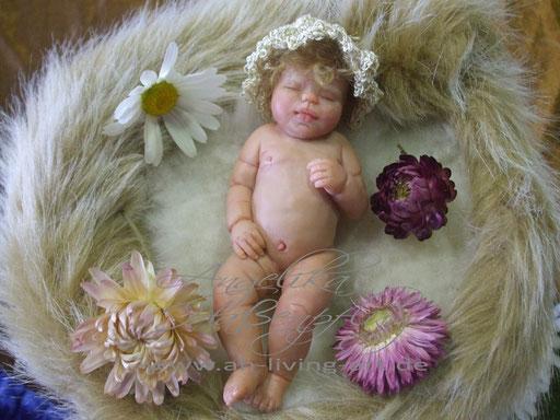 Ooak Mini Baby Puppe Polyme