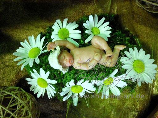Jenny Ooak Mini Baby Skulptur Polymer