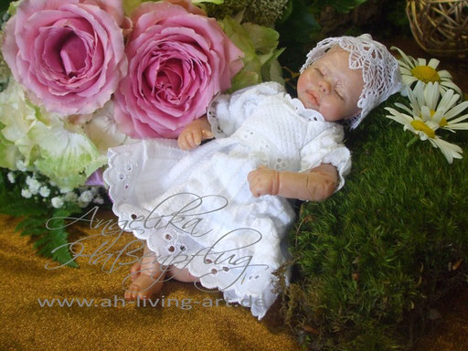 Ooak Mini Baby Puppe polymer Hanna