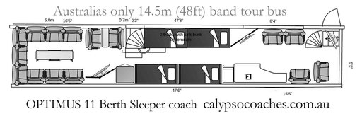 Sleeper coach, band tour bus australia