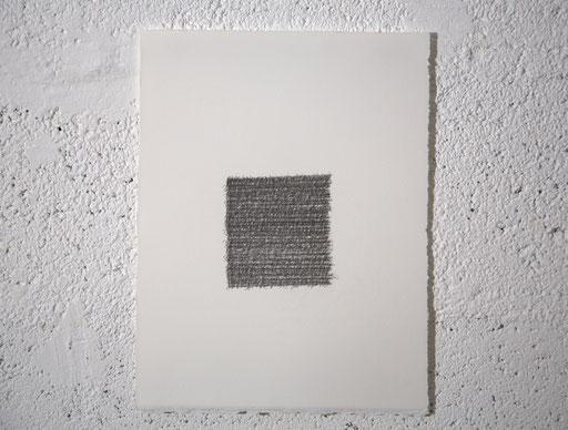 """""""Je suis"""", dessin, graphite sur BFK Rives, 25x32,4 cm, 2019"""