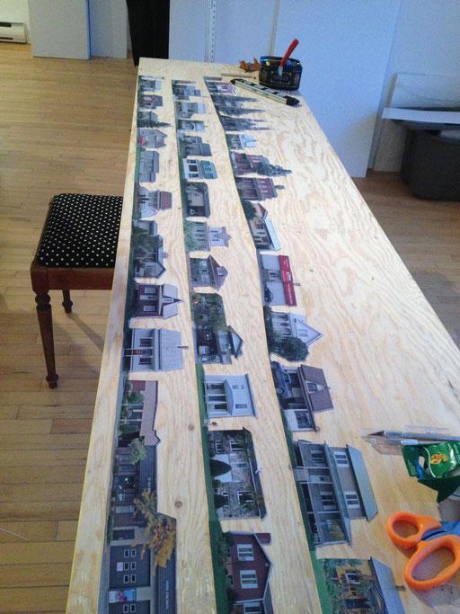 """Réalisation du projet en cours lors de la résidence """"Après les jachères"""" au GRAVE, Victoriaville"""