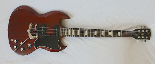 The pickguard and Duesenberg Vibrato are not original. Neither is the Schaller roller bridge. click to enlarge