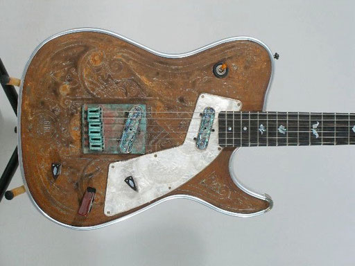 "Girlbrand guitar # 15. Maybe ""Katsumi Girl"". Same pattern as above and above above ... but a different guitar."