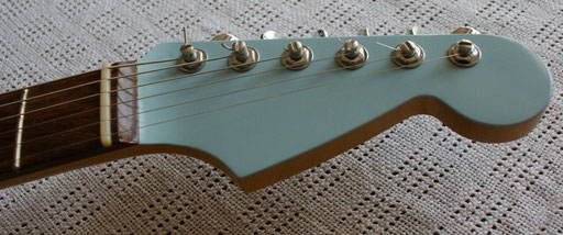 The Charvel-style headstock
