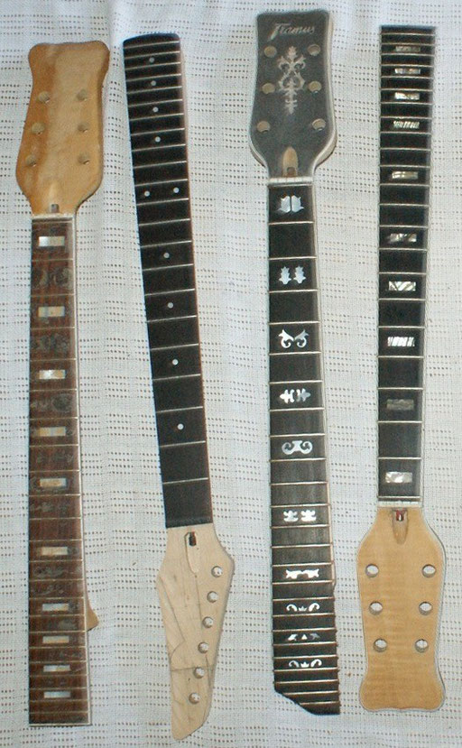 My Framus NOS Necks.2 Nashville models, 1 Jan Akkermann and a Carvin neck.