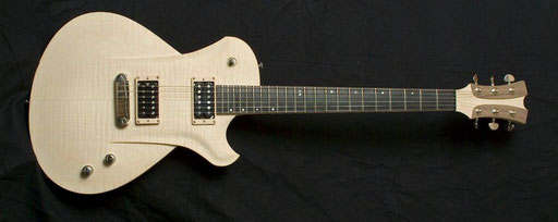 "Clearly inspired by German luthier Frank Hartung`s ""Embrace"" model was this guitar that Markus built."