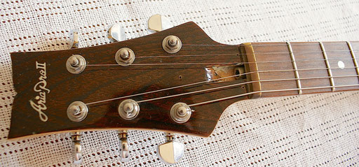 a BRASS nut! Truss rod cover missing