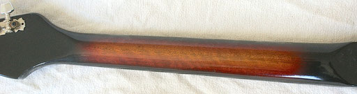 a FLAME mahogany neck on a cheapo like that?