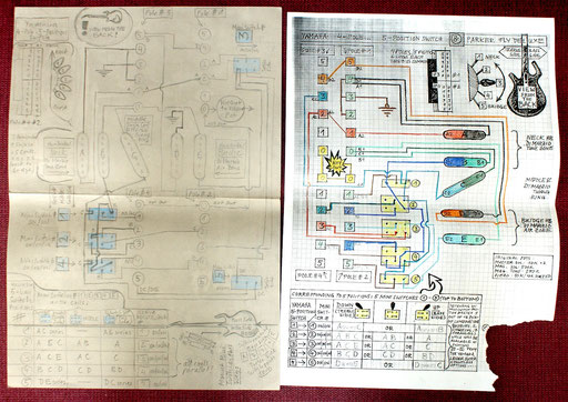 Then I made this in order to show it to an electronics pro. I was so insecure about it. since it was my first wiring project. Click to enlarge