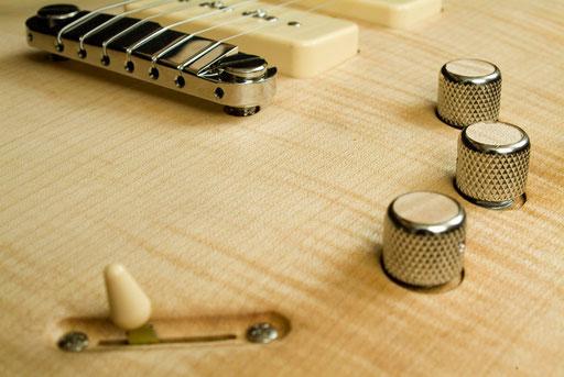 5-way selector and 3-way toggle, master volume, treble cut, bass cut pots