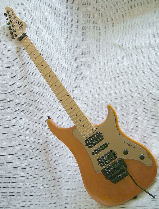 Vigier Excalibur Standard, late 90s. Swapped for Gibson SG Standard autographed  by Angus Young. Click to enlarge (not Angus!)